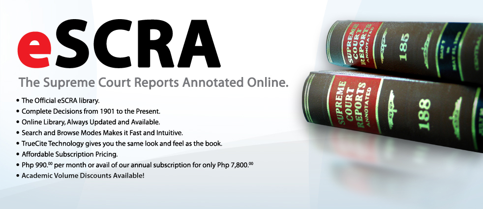 Now Available - eSCRA - The Supreme Court Reports Annotated Online